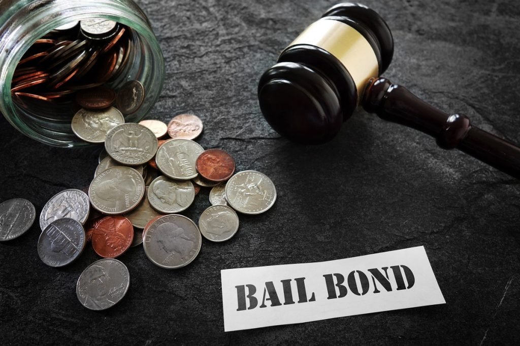 Bail bonds and gavel