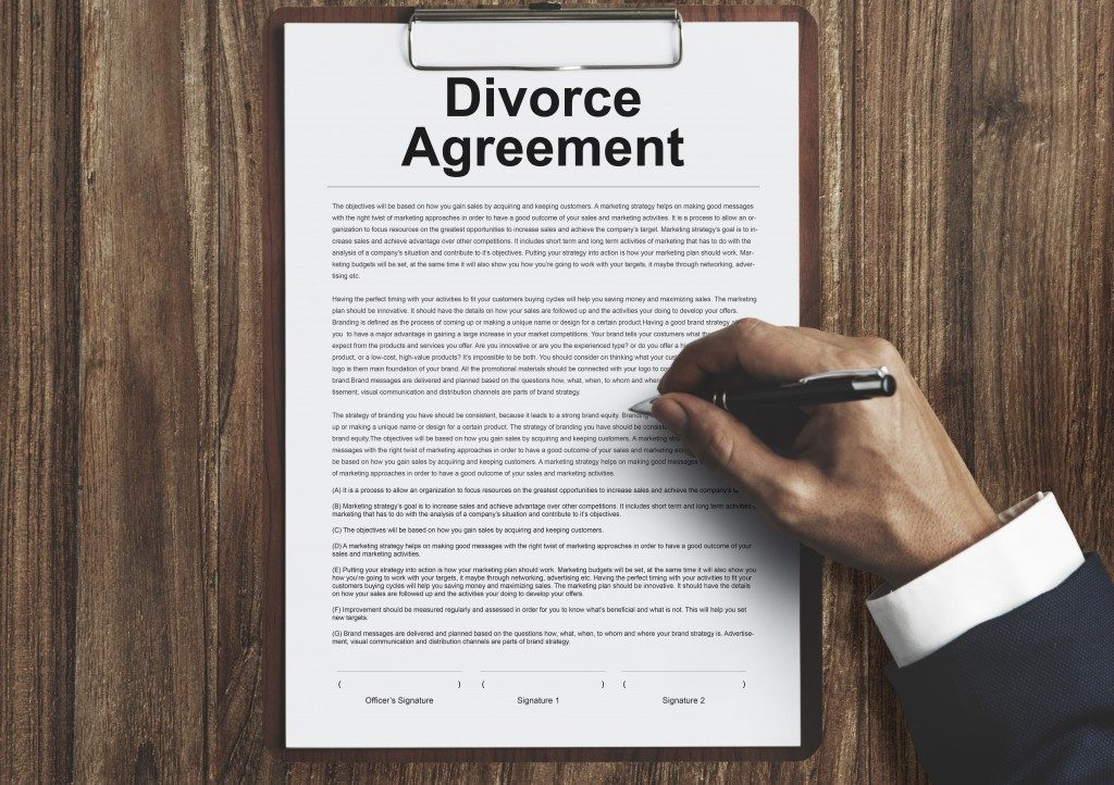 divorce agreement contract