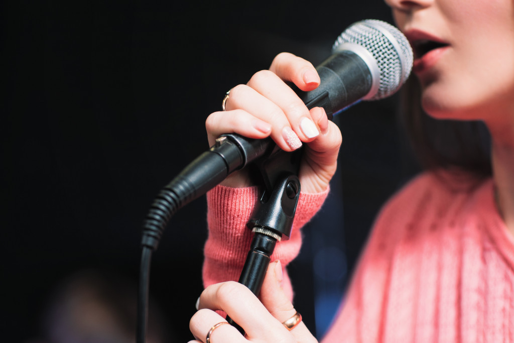 person singing