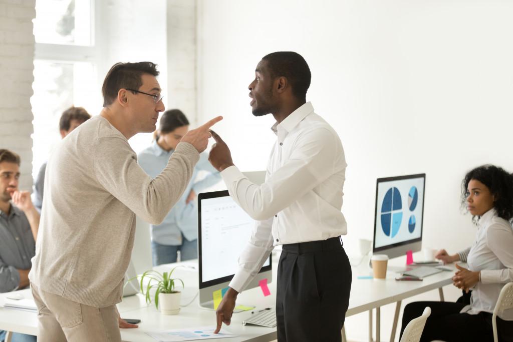 men having an argument