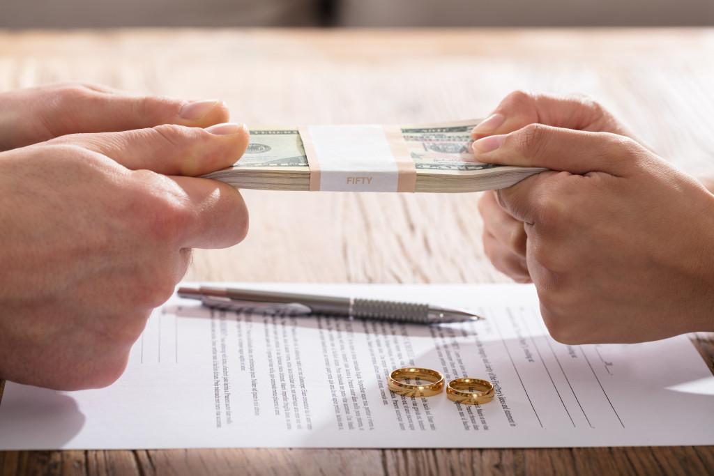 fighting over money in divorce